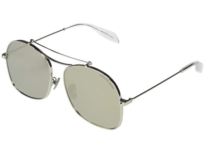 アレキサンダー・マックイーン メンズ サングラス・アイウェア アクセサリー AM0088S Shiny Silver/Shiny Silver