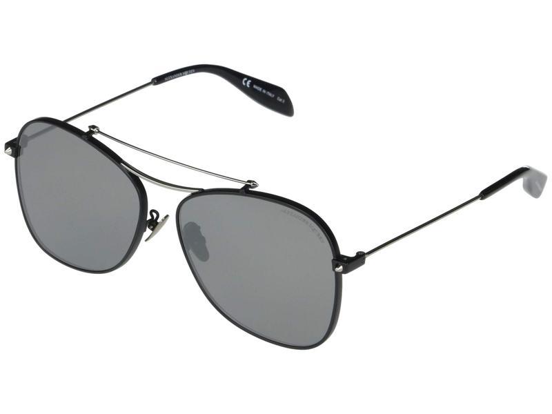アレキサンダー・マックイーン メンズ サングラス・アイウェア アクセサリー AM0096SA Matte Black/Shiny Ruthenium