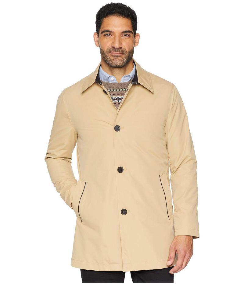 かわいい! コールハーン メンズ Detachable コート Button アウター City Rain Button Front Carcoat Carcoat with Detachable Liner Tan, タイガー魔法瓶:2b59c369 --- kanvasma.com