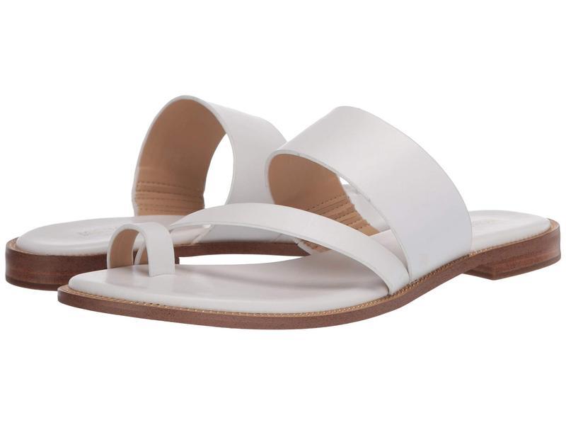 White Pratt レディース Optic Sandal シューズ マイケルコース Flat サンダル