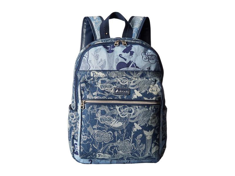 サックルーツ レディース バックパック・リュックサック バッグ Artist Circle Cargo Backpack Denim Peace