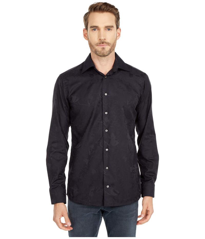 送料無料 サイズ交換無料 エトン 結婚祝い メンズ トップス Shirt Black セール品 シャツ Jacquard