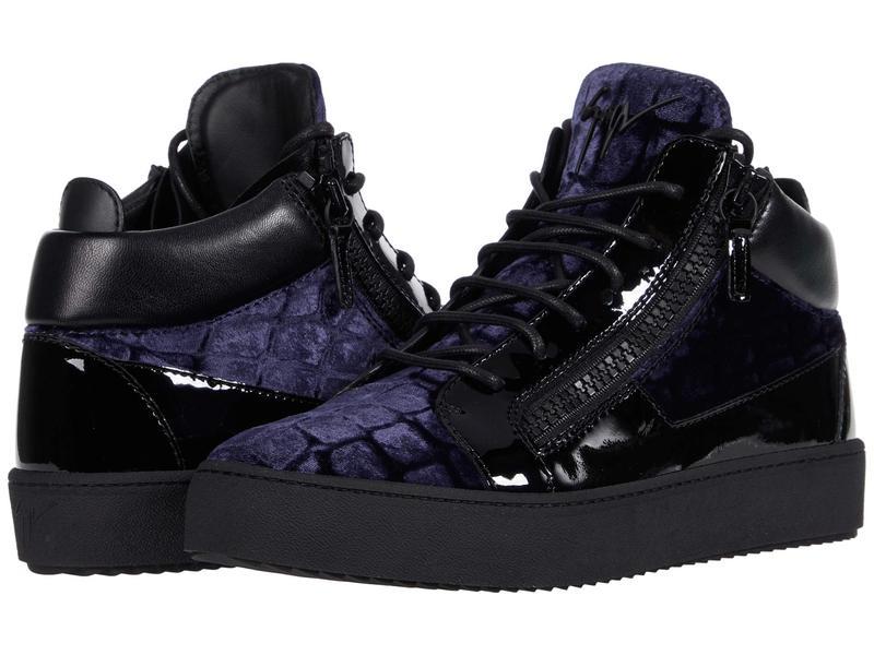 100%品質保証 送料無料 サイズ交換無料 ジュゼッペザノッティ メンズ シューズ スニーカー Navy Velvet May 付与 Top Mid Sneaker London