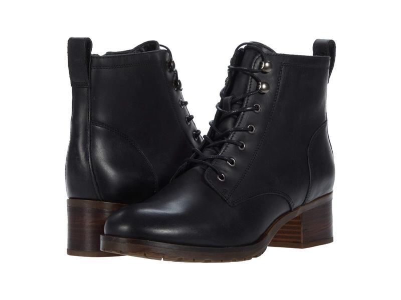 【新作入荷!!】 クラークス レディース ブーツ・レインブーツ シューズ Mila Lace Black Leather, ナカイニット deb16cb5