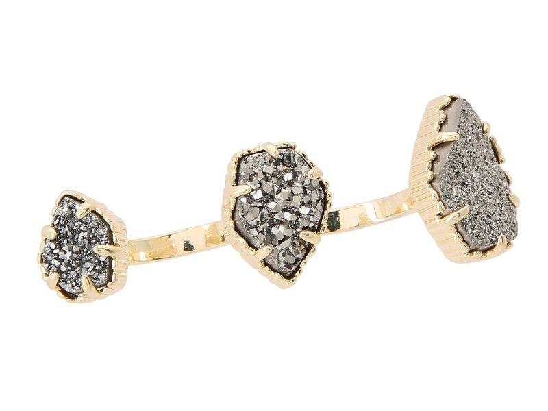 休み 送料無料 交換無料 サイズ交換無料 ケンドラスコット レディース アクセサリー リング Gold Adjustable Platinum Two Naomi Finger Drusy Ring