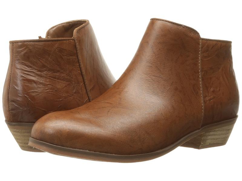 ソフトウォーク レディース ブーツ・レインブーツ シューズ Rocklin Cognac Vintage Waxy Wrinkled Leather