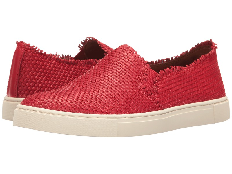フライ レディース スニーカー シューズ Ivy Fray Woven Slip-On Poppy Polished Soft Full Grain