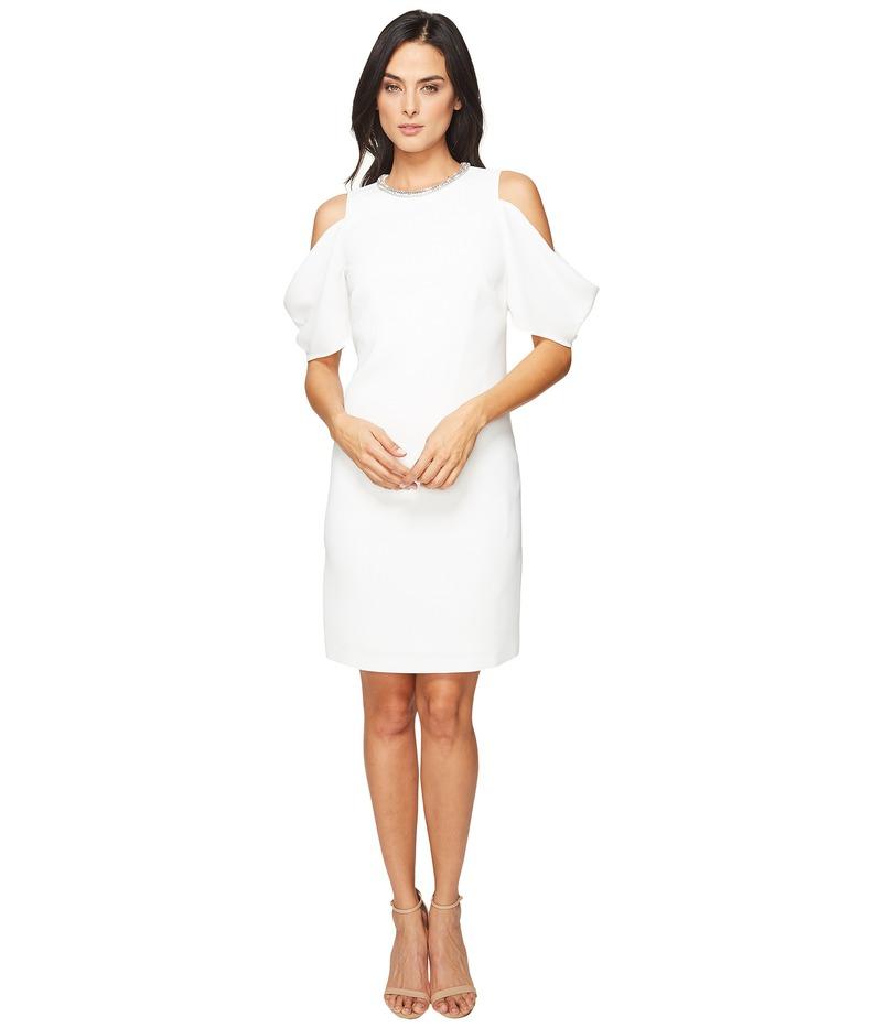 ランドリーバイシェリーシーガル レディース ワンピース トップス Embellished Neck Crepe Dress Marshmallow