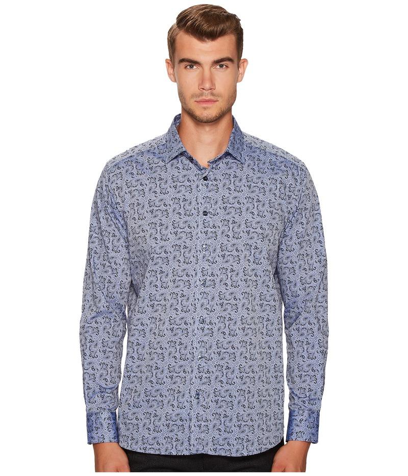エトロ メンズ シャツ トップス Paisley Button Down Shirt Blue