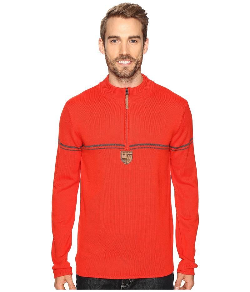 オバマイヤー メンズ ニット・セーター アウター Zurich 1/2 Zip Sweater Red