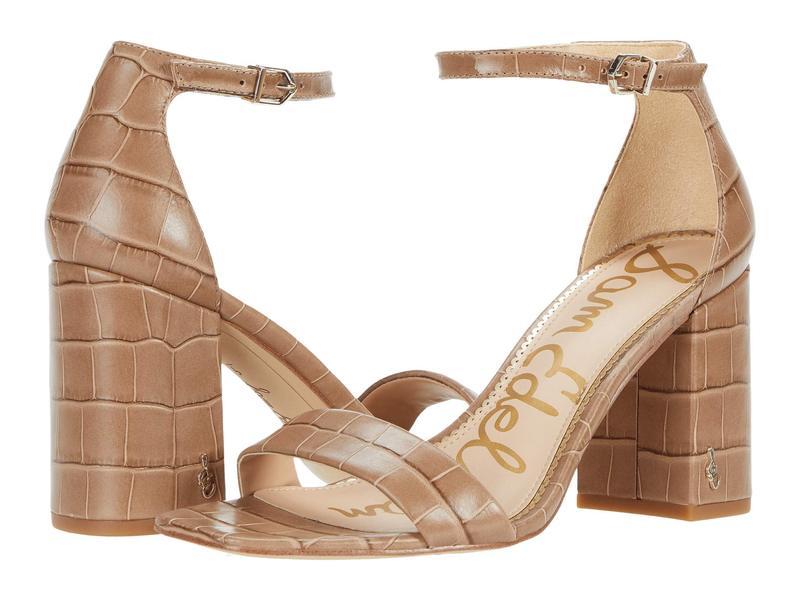 送料無料 サイズ交換無料 サムエデルマン レディース シューズ ヒール Praline Cairo Large Croco Leather サムエデルマン レディース ヒール シューズ Daniella Praline Cairo Large Croco Leather