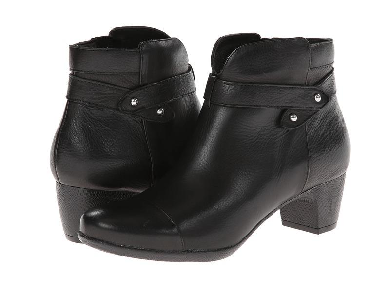 ソフトウォーク レディース ブーツ・レインブーツ シューズ Ivanhoe Black Tumbled Leather