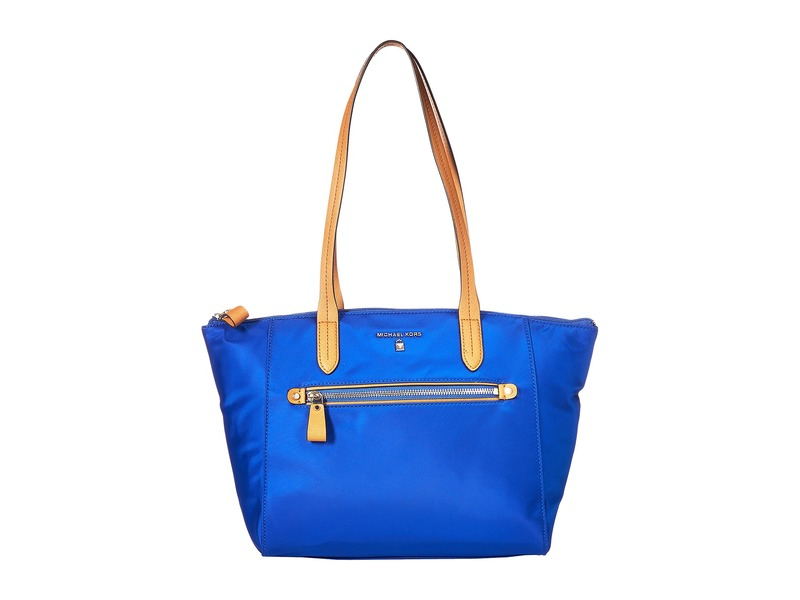 マイケルコース メンズ ハンドバッグ バッグ Nylon Kelsey Medium Top Zip Tote Elctric Blue
