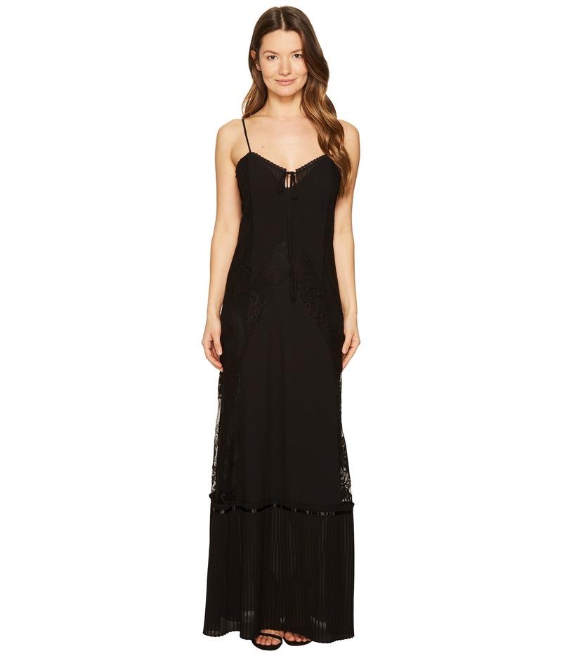 アレキサンダー・マックイーン レディース ワンピース トップス Long Lace Slip Dress Black