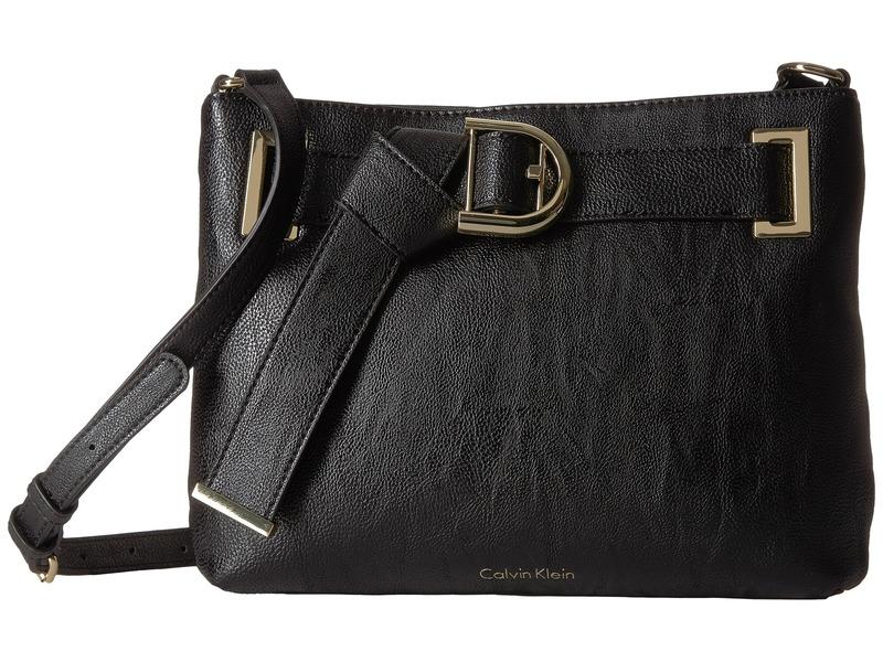 カルバンクライン メンズ ハンドバッグ バッグ Nola Belted Top Zip Crossbody Black/Gold