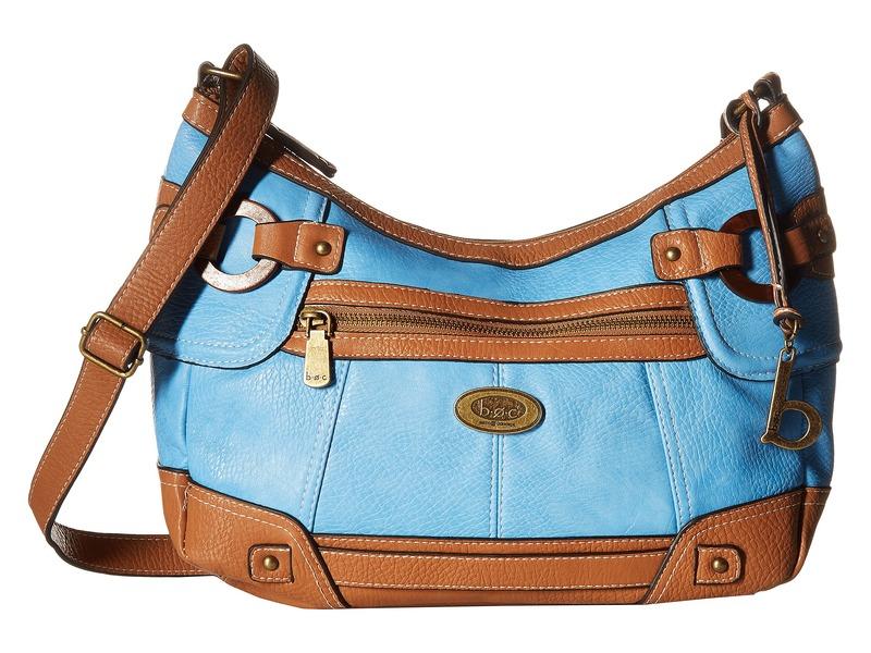 ビーオーシー メンズ ハンドバッグ バッグ Hutchison Crobo Double Zip Blue/Saddle