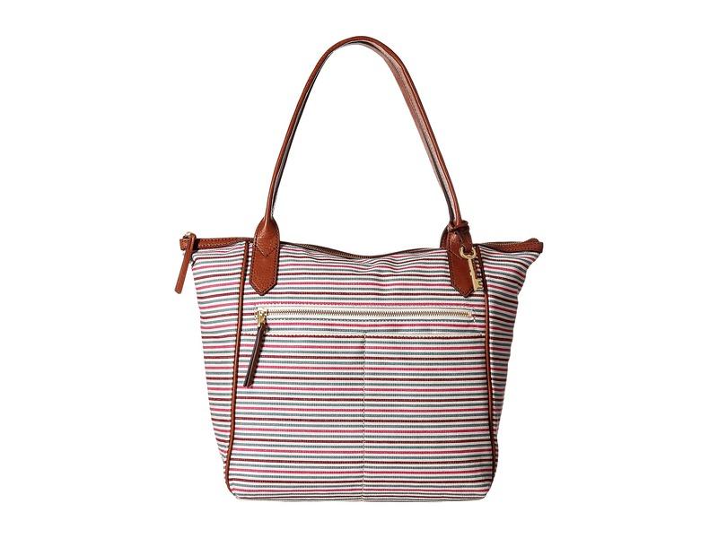 フォッシル メンズ ハンドバッグ バッグ Fiona Tote Colorful Stripes