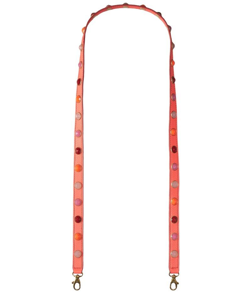 フォッシル メンズ ハンドバッグ バッグ Crossbody Strap Neon Coral