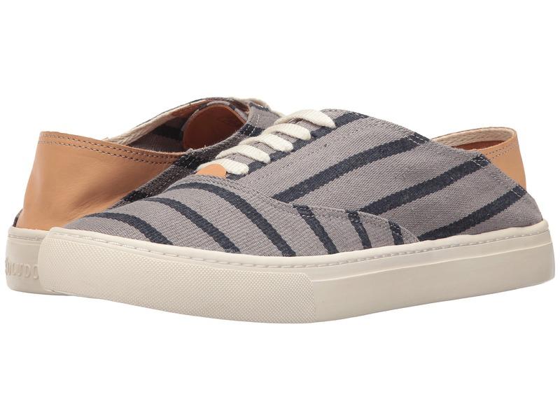ソルドス メンズ スニーカー シューズ Striped Classic Sneaker Gray/Navy