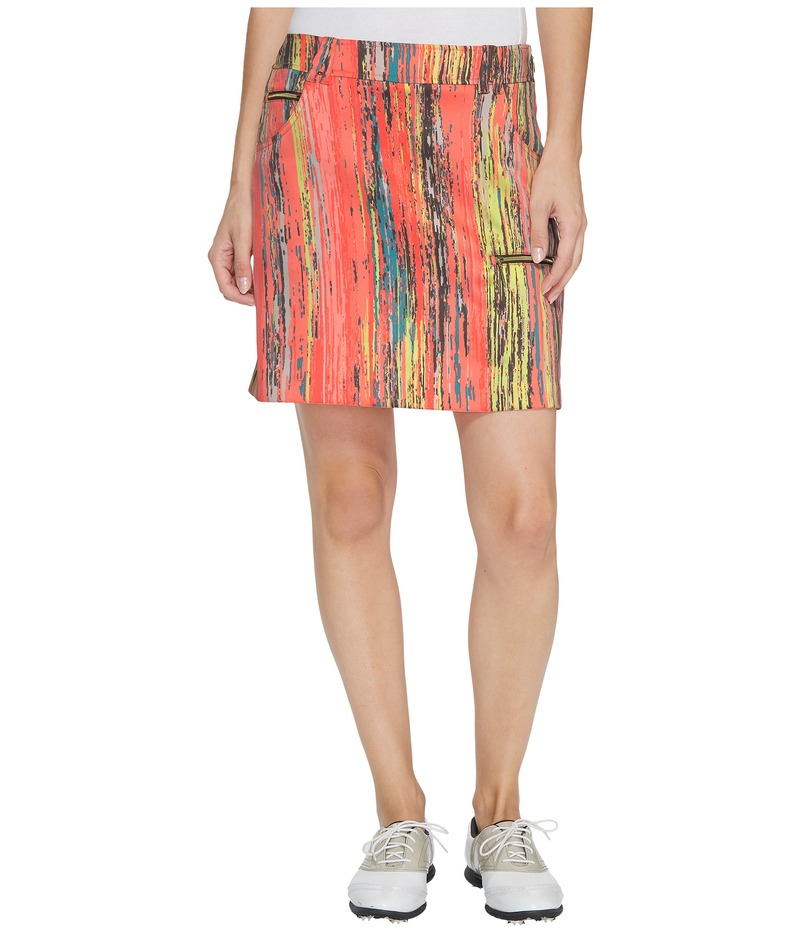 ジャイミーサドック レディース スカート ボトムス Skinnylicious Parfait Print Side Zip and Button 18 in. Skort Radiance