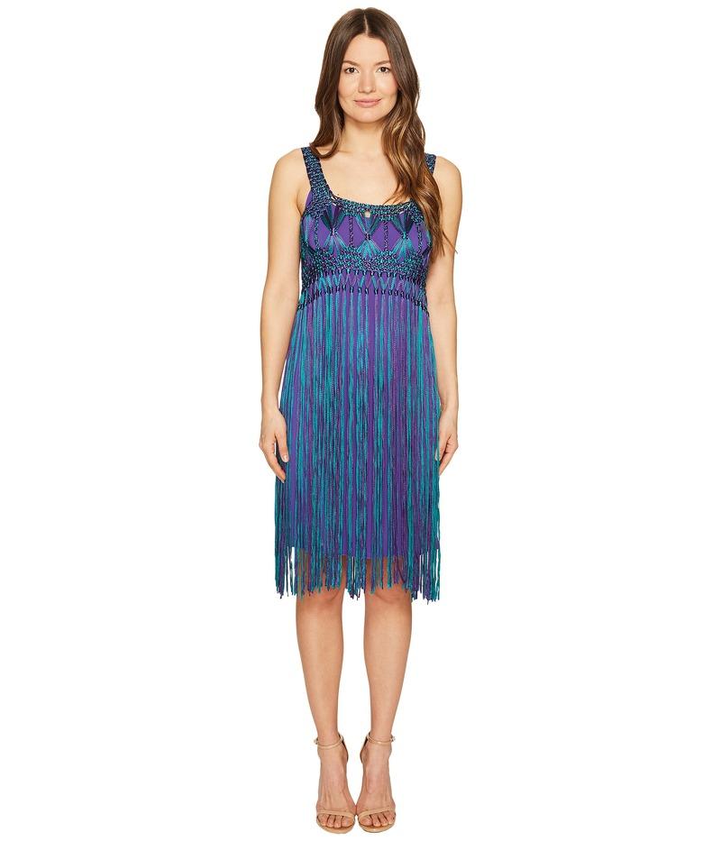 アルベルタ フェレッティ レディース ワンピース トップス Sleeveless Fringe Dress Fantasy Print Violet