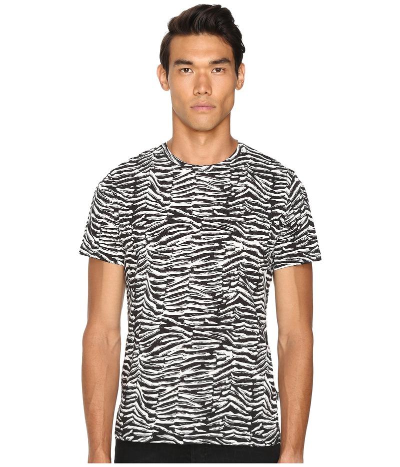 ジャストカバリ メンズ シャツ トップス Slim Fit Zebra Vibe Printed T-Shirt Black Variant