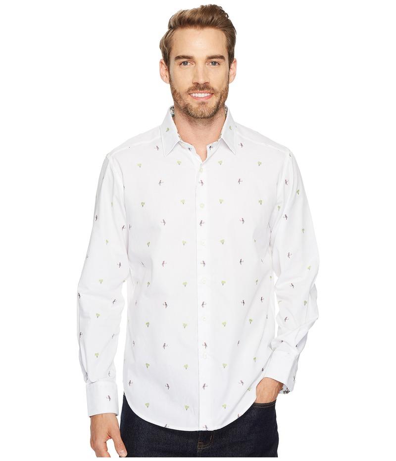ロバートグラハム メンズ シャツ トップス Palm Leaves Long Sleeve Woven Shirt White