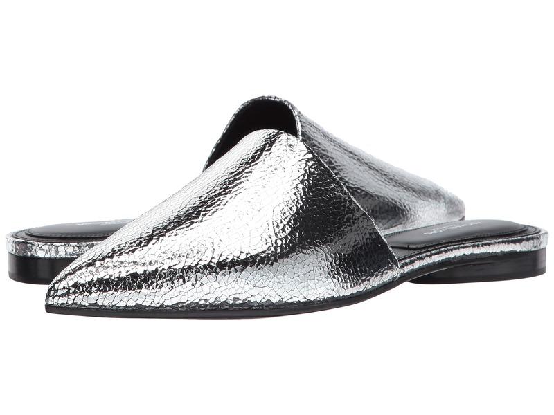 マイケルコース レディース サンダル シューズ Darla Silver Cracked Metallic Leather