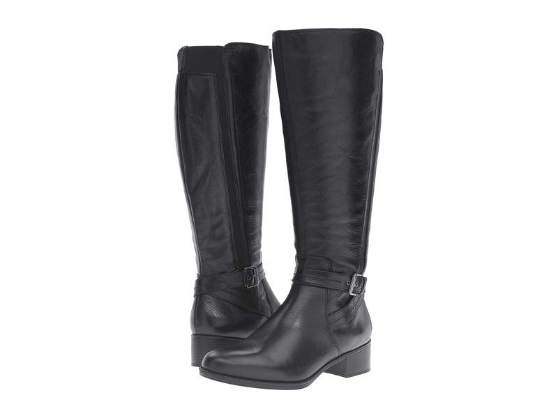 ナチュライザー レディース ブーツ・レインブーツ シューズ Wynnie Wide Calf Black Leather