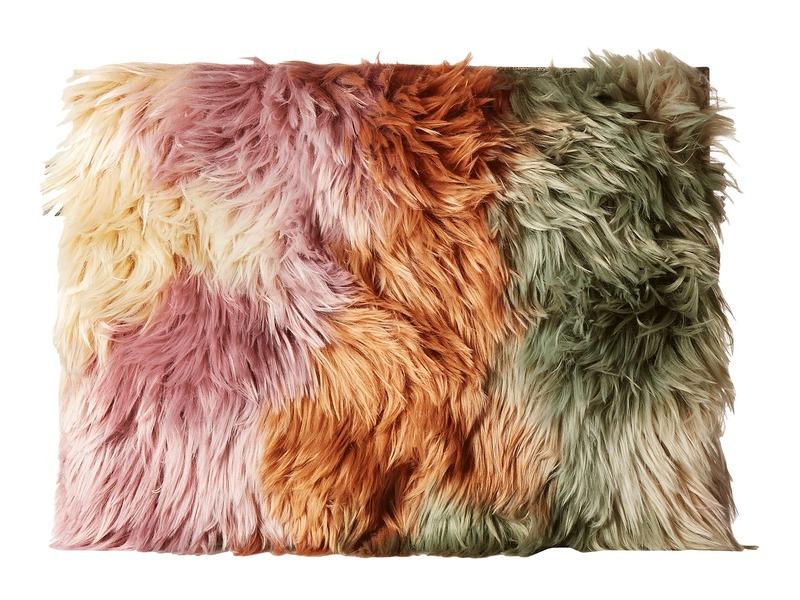 マルタンマルジェラ メンズ ハンドバッグ バッグ Faux Fur Pouch Multicolor Faux Fur