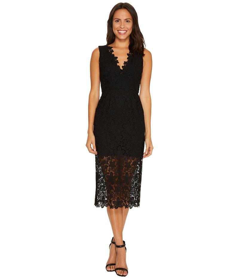 ジルスチュアート レディース ワンピース トップス All Over Lace Deep-V Midlength Dress Black