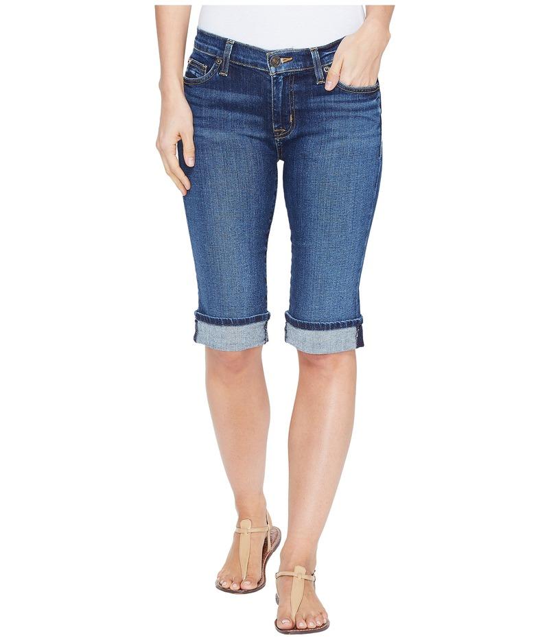 ハドソン レディース ハーフパンツ・ショーツ ボトムス Amelia Cuffed Knee Five-Pocket Shorts in Blue Moon Blue Moon