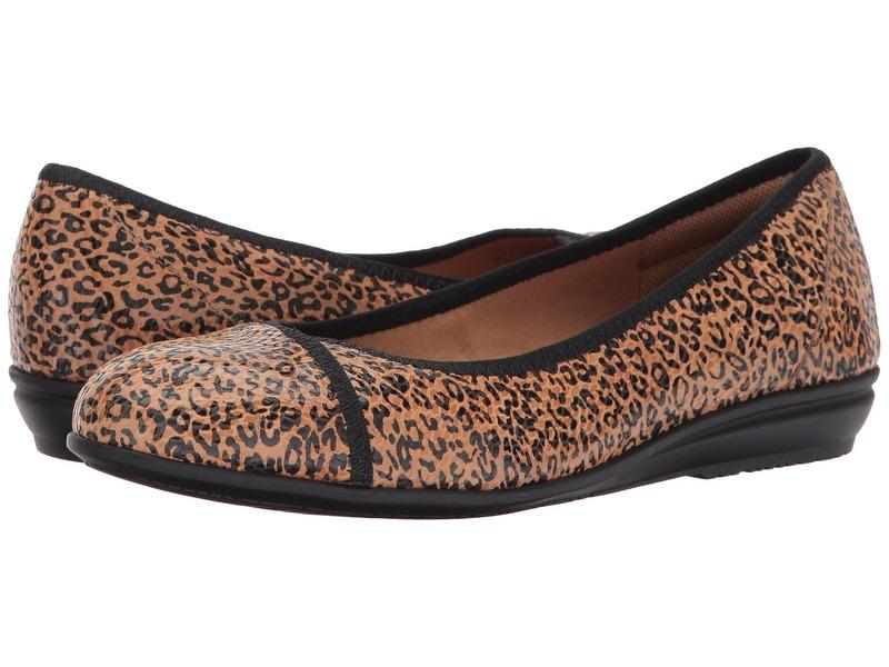 コンフォーティバ レディース サンダル シューズ Eaton Tan Mini Leopard Foil Suede