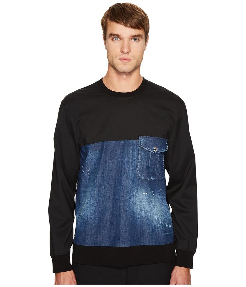 ディースクエアード メンズ シャツ トップス Stretch Denim Pullover Shirt Blue