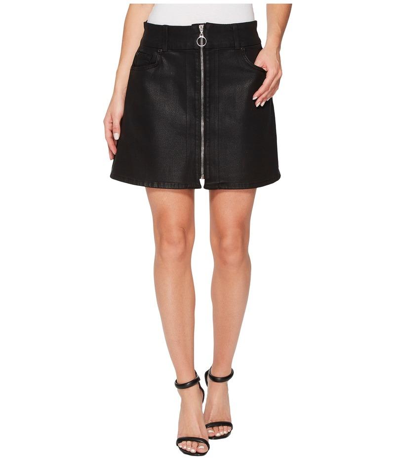 セブンフォーオールマンカインド レディース スカート ボトムス Zip Front Mini Skirt in Black Black