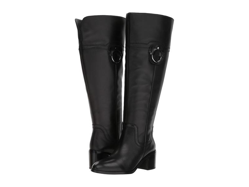 フランコサルト レディース ブーツ・レインブーツ シューズ Beckford Wide Calf Black Leather
