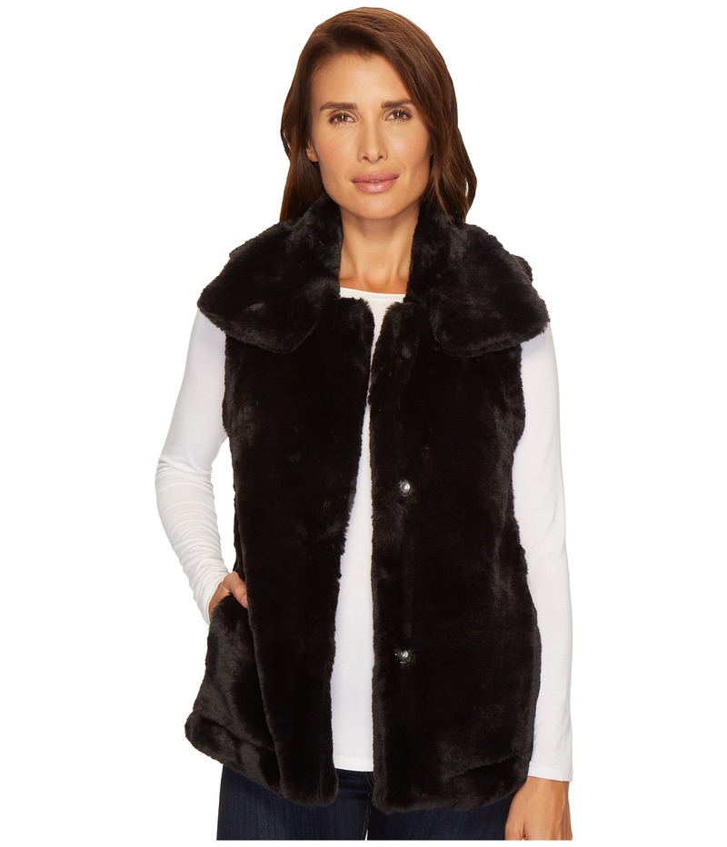 デイランバイトゥルーグリット レディース コート アウター Minky Plush Vest Black