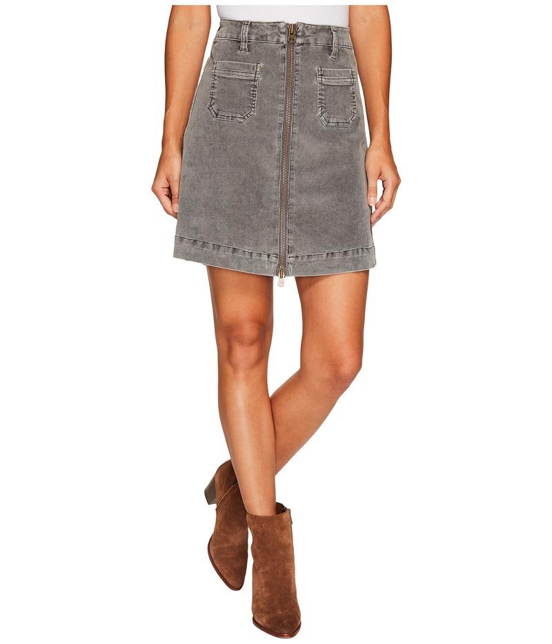 ジャグジーンズ レディース スカート ボトムス McCamey Zip Front Skirt in Refined Corduroy Charred