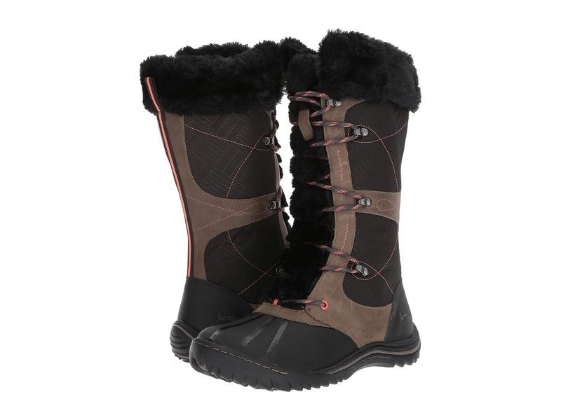 ジャンブー レディース ブーツ・レインブーツ シューズ Broadway Waterproof Black Textile/Brushed Leather