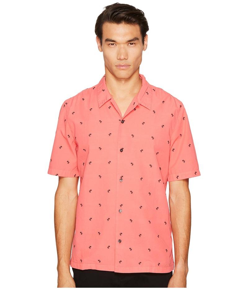 ジャストカバリ メンズ シャツ トップス Palm Tree Short Sleeve Shirt Scarlet