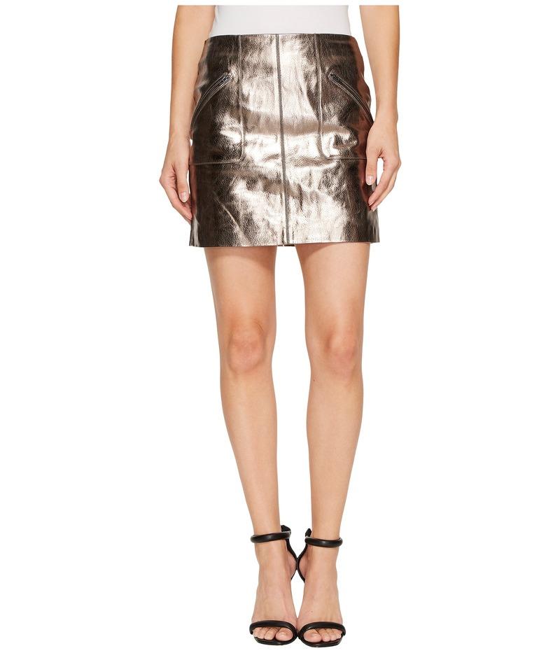 ブランクニューヨーク レディース スカート ボトムス Metallic Skirt in Mercury Mercury