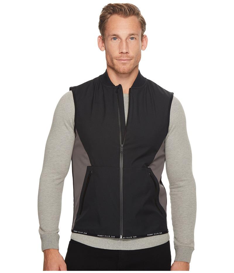 ペリーエリス メンズ コート アウター PE360 Active Bonded Thermal Vest Black