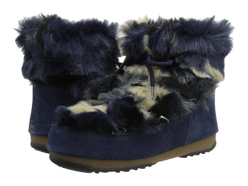 テクニカ レディース ブーツ・レインブーツ シューズ Moon Boot W.E. Low Fur Blue
