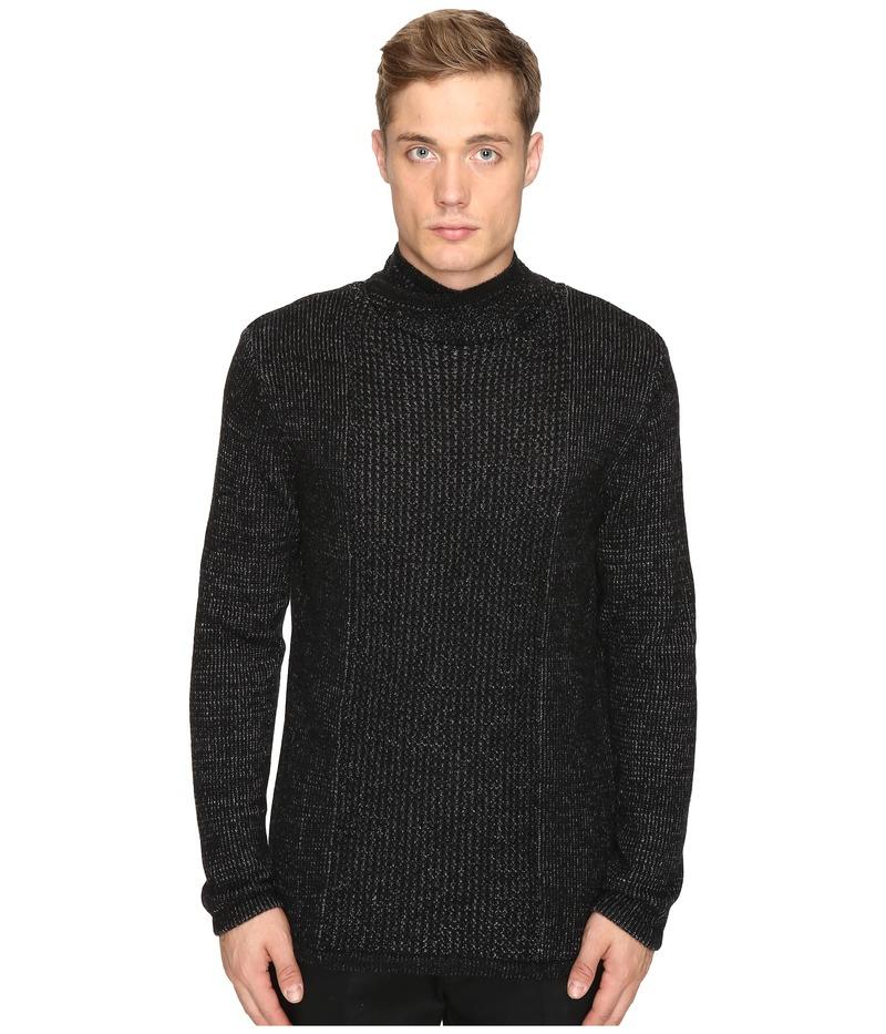 マティエール メンズ ニット・セーター アウター Smith Cashmere Blend Cowl Neck Sweater Heather Jet Black
