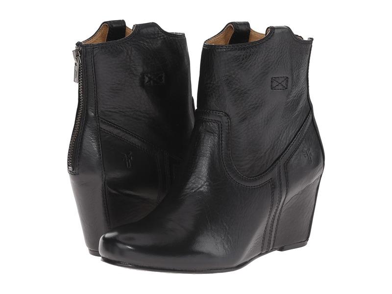 フライ レディース ブーツ・レインブーツ シューズ Carson Wedge Bootie Black Soft Vintage Leather