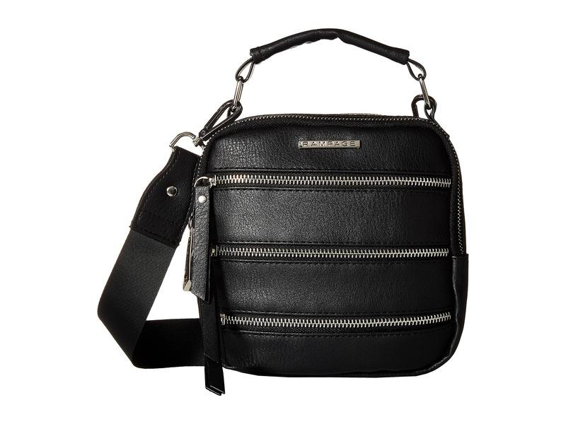 ランページ メンズ ハンドバッグ バッグ Triple Zip Camera Bag Black