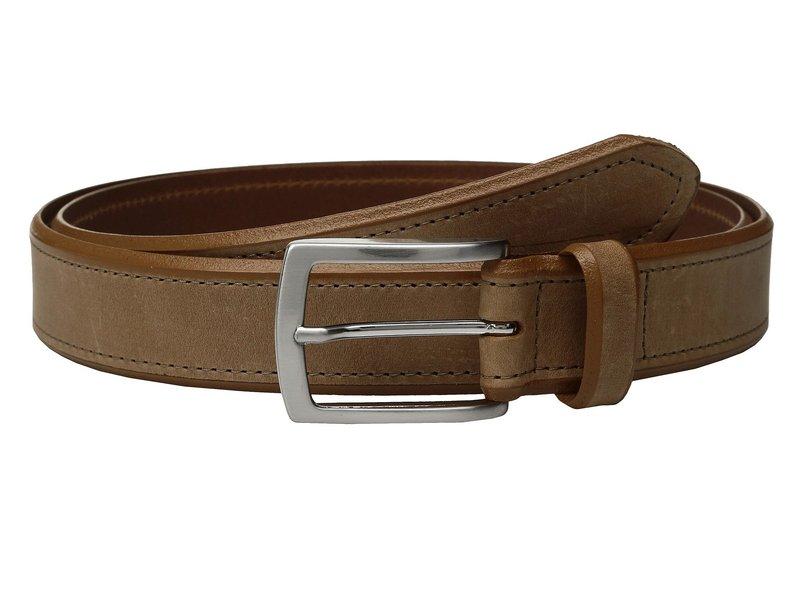 ジョンストンアンドマーフィー メンズ ベルト アクセサリー Single Stitch Belt Tan