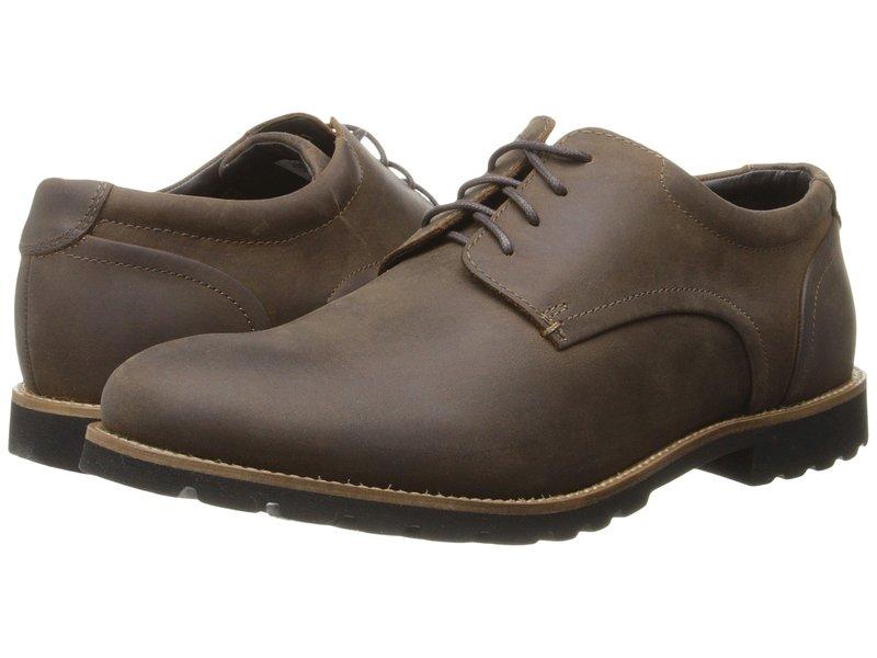 ロックポート メンズ オックスフォード シューズ Sharp & Ready Colben Brown Oiled Leather