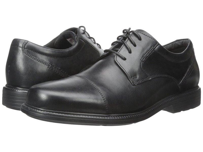 ロックポート メンズ オックスフォード シューズ Charles Road Cap Toe Oxford Black Leather
