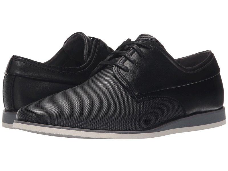 カルバンクライン メンズ オックスフォード シューズ Kellen Black Emboss Leather